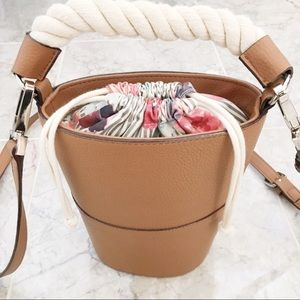 FINAL PRICE Genuine Leather Drawstring Bucket Bag